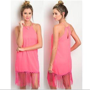 NEW Lac Bleu Fringe Dress